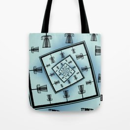 Spinning Disc Golf Baskets Tote Bag