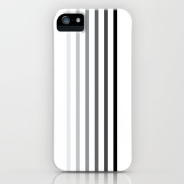 Black and white stripes iPhone Case