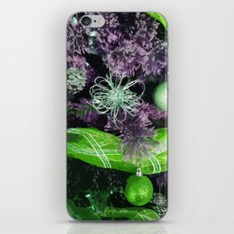 Christmas Tree - Purple Green iPhone Skin