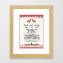 It´s the most wonderful time of the year Framed Art Print