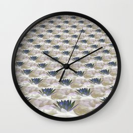 Lilies in the Clouds Fractal - IA Wall Clock