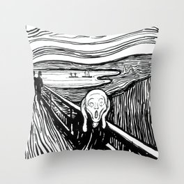 Edvard Munch - The Scream Lithography Throw Pillow