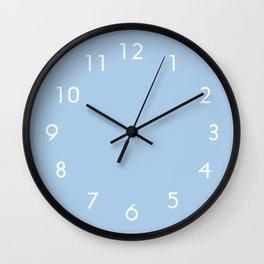 Placid Blue Wall Clock