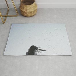 Girl and The Birds Rug