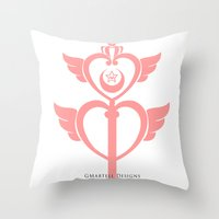 martell Throw Pillows featuring Sailor Moon Inspired Wand Pink by G Martell