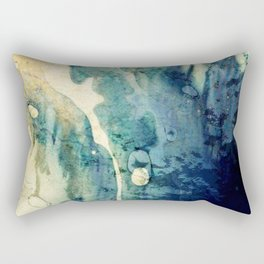Modern Contemporary Abstract Blue Zen Design Rectangular Pillow