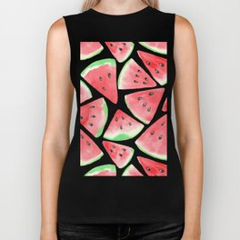 Watermelon slices pattern Biker Tank