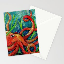 Octopus in the Weeds Stationery Cards