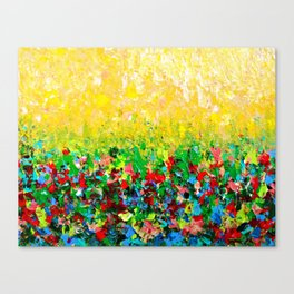 NATURE'S LIVING ROOM - Gorgeous Bright Bold Nature Wildflower Field Landscape Abstract Art New 2012 Canvas Print