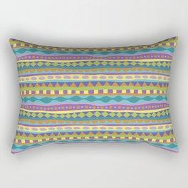 Stripey-Jardin Colors Rectangular Pillow