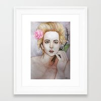 jennifer lawrence Framed Art Prints featuring Jennifer Lawrence  by Giulia Colombo