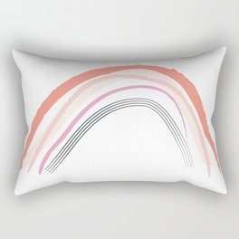 Coral Rainbow Rectangular Pillow