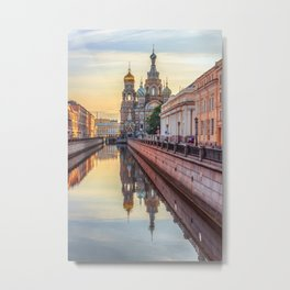 Church of the Savior on Blood, Saint Petersburg, Russia Metal Print