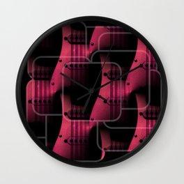 Pink Guitar Jumble Wall Clock