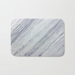 Gray white abstract geometrical stripes marble Bath Mat