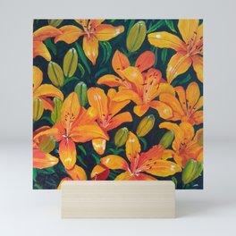 Daylilies in the Garden Mini Art Print
