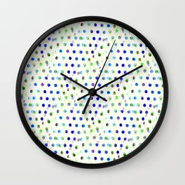 Blue/Green Dotty Wall Clock
