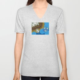 Australian Aboriginal Sea Turtles Unisex V-Neck