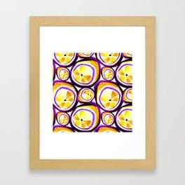 Sweet Plum Lemon Framed Art Print