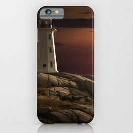 Lighthouse at Sunset in the Peggy's Cove iPhone Case