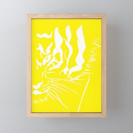 Eye Of The Tiger - Canary Yellow Framed Mini Art Print