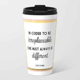 Coco Gold Pink Fashion Quote Travel Mug