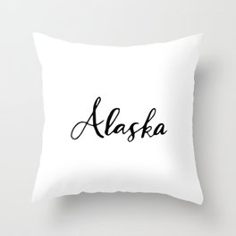 Alaska (AK; Alaska) Throw Pillow