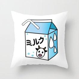 Kawaii Milk Carton Throw Pillow
