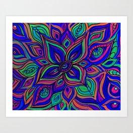 Vivid vibrations Art Print