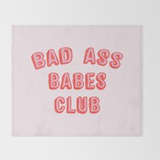 BAD ASS BABES CLUB Throw Blanket