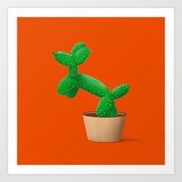 Cactus dog Art Print