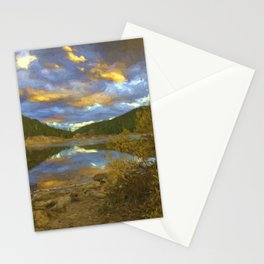 Ech Lake Sunset Stationery Cards