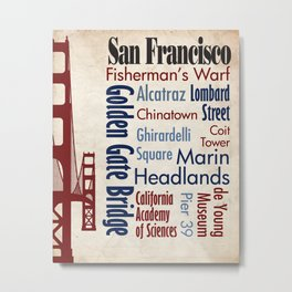 Travel - San Francisco Metal Print