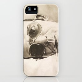 Hunter S. Thompson Portrait in Charcoal iPhone Case