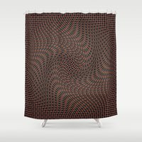 leather Shower Curtains featuring In leather by Laake-Photos