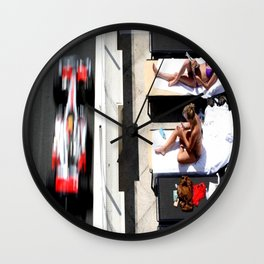 Monaco Contrasts Wall Clock