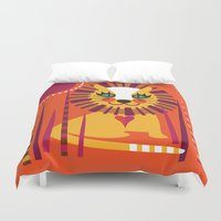 leo Duvet Covers featuring Leo by Shirley Copperwhite