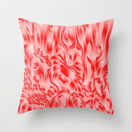 Pastel smudges stains of delicate colors with red. Throw Pillow