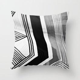 Modern Zebra Abstract Throw Pillow