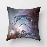storm Throw Pillows featuring storm  by Vickn