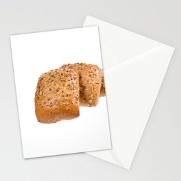 baked graham bread rolls Stationery Cards