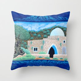 BNC#2005-010-Rachel's-Tomb. Throw Pillow