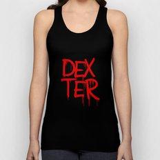 word: Dexter Unisex Tank Top