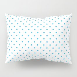 Domino sky blue dots pattern Pillow Sham