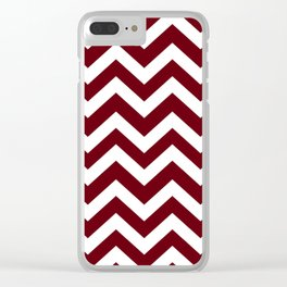 Rosewood - red color - Zigzag Chevron Pattern Clear iPhone Case