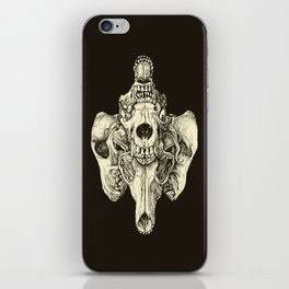 Coyote Skulls - Black and White iPhone Skin