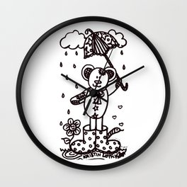 Umbrella Bear! Wall Clock