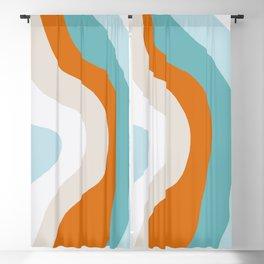 moab, teal & orange Blackout Curtain