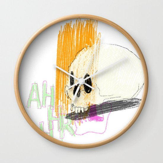 AHHHHHHR IT'S A SKULL (ACTUALLY IT'S JUST THE CRANIUM) Wall Clock