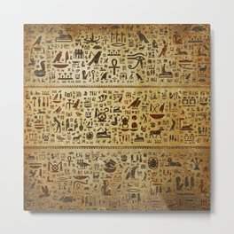 Ancient Egyptian Hieroglyphics Metal Print